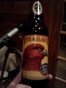 eye of the hawk beer bottle